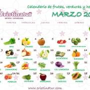 calendario saludable marzo