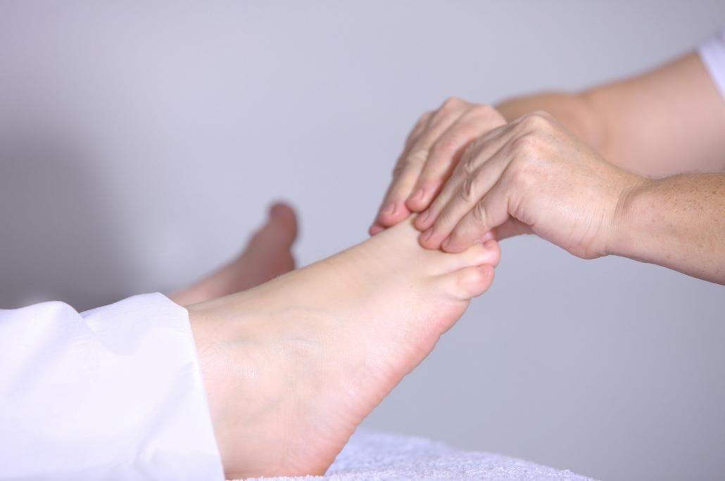 masaje de reflexología